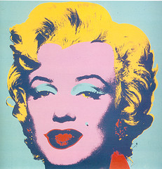 Andy Warhol picture of Marlyn Monroe