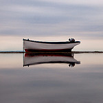 small boat in water